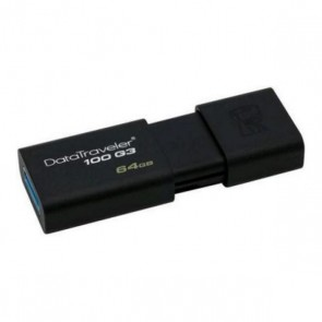 Pendrive Kingston FAELAP0304 DT100G3 64 GB USB 3.0 Nero