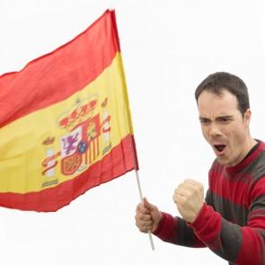 Bandiera della Spagna con Asta (90 x 60 cm)