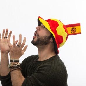 Cappello Pallone da Calcio con Bandiera della Spagna in Rilievo