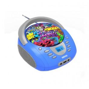 Radio Portatile Bluetooth Daewoo DBU-10 Graffiti FM Azzurro