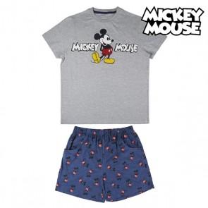 Pigiama Estivo Mickey Mouse Grigio Azzurro