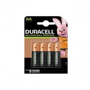 Batterie Ricaricabili DURACELL DURDLLR6P4B AA NiMh 2500 mAh (4 pcs)