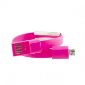 Braccialetto con Cavo Micro USB Contact 23 cm Rosa