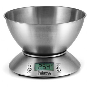 Bilancia da Cucina Digitale Tristar KW2436 5kg 2,5L in acciaio