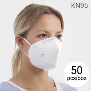 Mascherina di Protezione Respiratoria KN95 FFP2 (Pacco da 50 Mascherine)