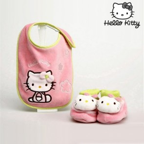 Set Bavaglino e Babbucce Hello Kitty 9425
