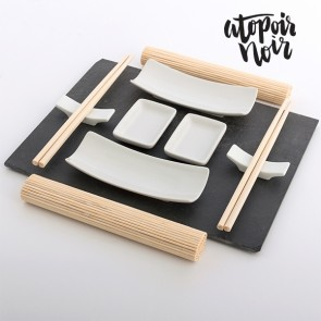 Set Sushi con Vassoio in Ardesia Atopoir Noir (11 pezzi)