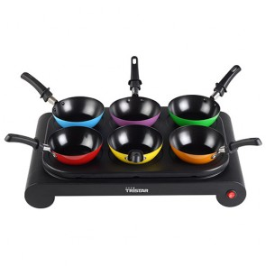 Set di Padelle Wok Tristar BP2827 1000W Multicolor