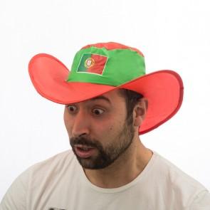 Cappello pieghevole con la Bandiera del Portogallo