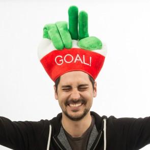 Cappello con Dita Bandiera dell'Italia