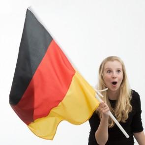 Bandiera della Germania con Asta (90 x 60 cm)