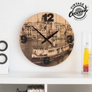 Orologio da Parete Città Vintage Coconut