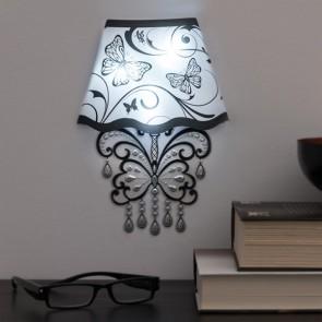 Adesivo da Pareti con LED Butterfly