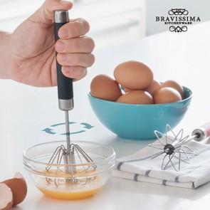 Sbattitore a Fruste Manuale con Giro Automatico Bravissima Kitchen
