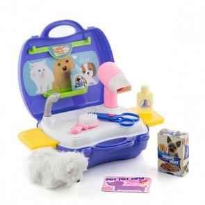 Gioco di Toilettatura per Animali Domestici con Accessori
