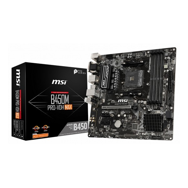 Scheda Madre MSI B450M Pro-VDH Max mATX DDR4 AM4