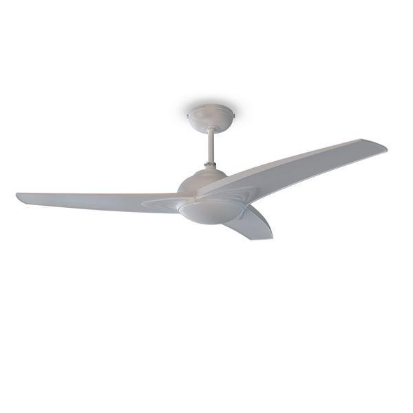Ventilatore da Soffitto con Luce Cecotec Forcesilence Aero 55 W Bianco