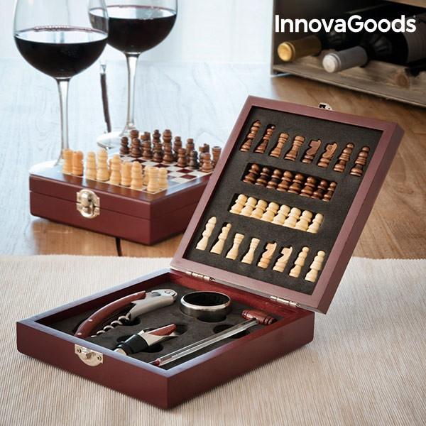 Set di Accessori da Vino e Scacchi InnovaGoods (37 Pezzi)