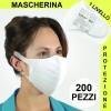 Mascherina di Protezione Respiratoria Mascherine Pacco da 200 Unità Primo livello di Sicurezza